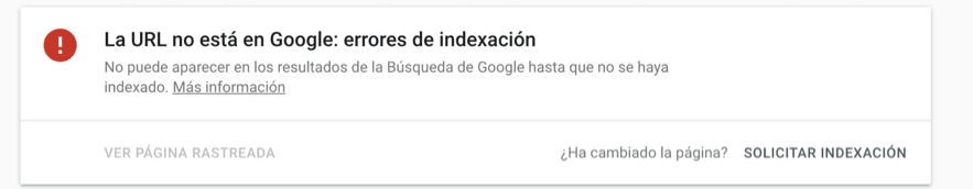 inspeccion urls search console